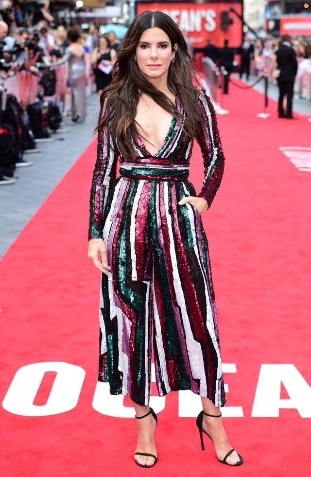 Sandra Bullock at the Ocean's 8 European Premiere