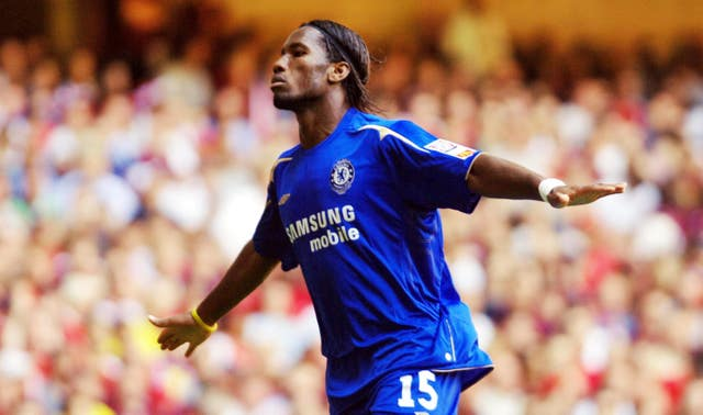 Didier Drogba scored twice against Arsenal in the 2005 Community Shield - he would go on to be a thorn in the side of the Gunners over the years.