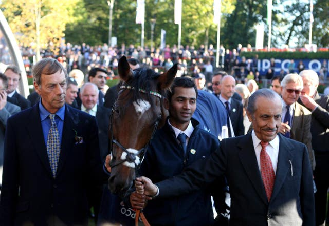 Sir Henry Cecil with Prince Khalid Abdullah and Frankel