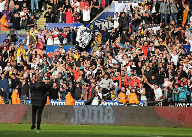 Swansea boss Steve Cooper enjoyed the adulation of the club's fans