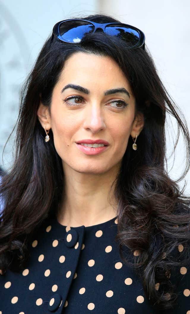 He said he will attend the protest with wife Amal Clooney