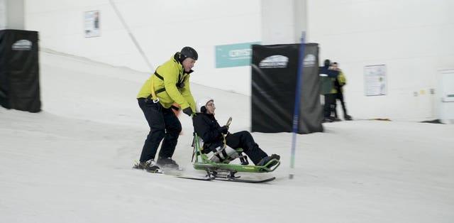 Robert Trulocke goes skiing