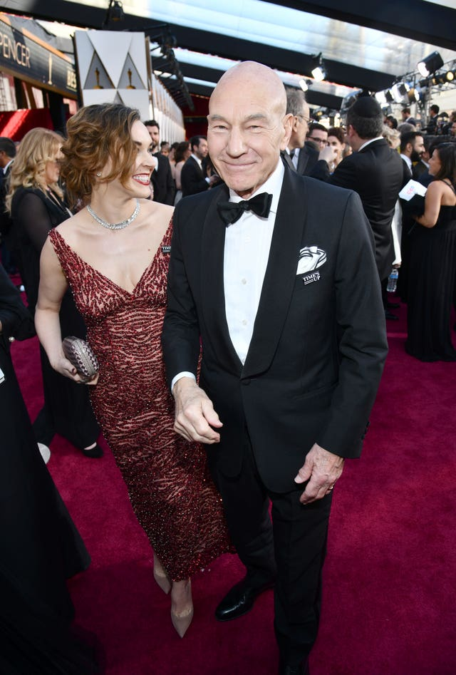 Sunny Ozell, left, and Patrick Stewart (Charles Sykes/Invision/AP)