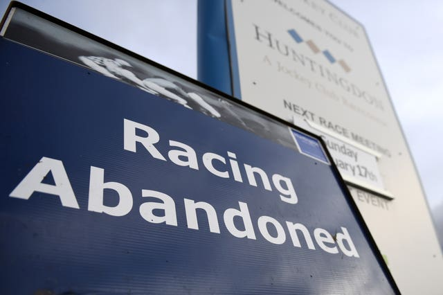 Racing in Britain has been shutdown since Thursday