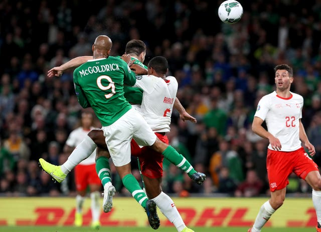 McGoldrick rescues Republic of Ireland with late equaliser against Switzerland