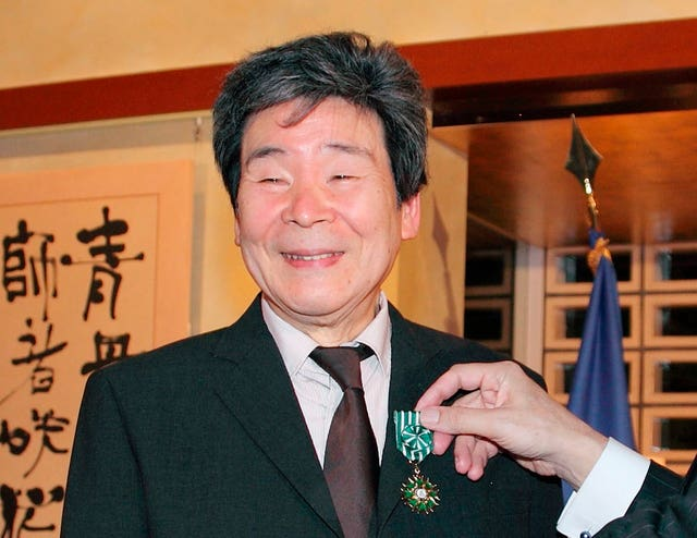 Isao Takahata, pictured in 2015 (AP)
