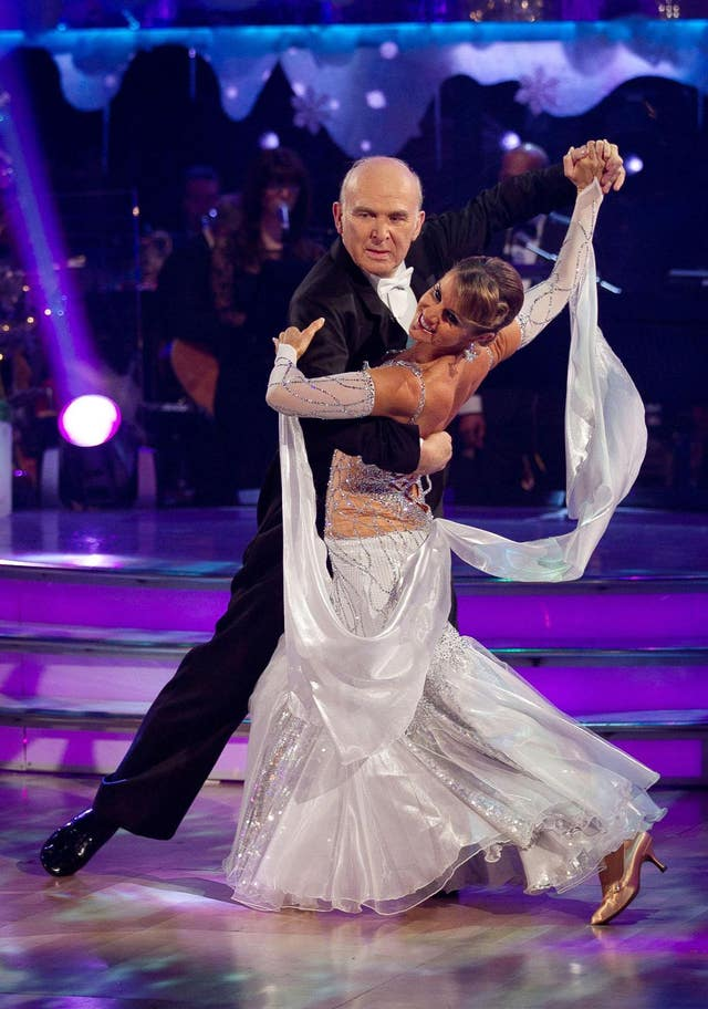 Liberal Democrat leader Sir Vince Cable danced with Erin Boag on a Christmas special edition of the hit BBC show in 2010 (Guy Levy/BBC/PA)