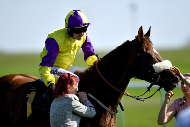 Brando after winning the Abernant Stakes at Newmarket for the second year in succession