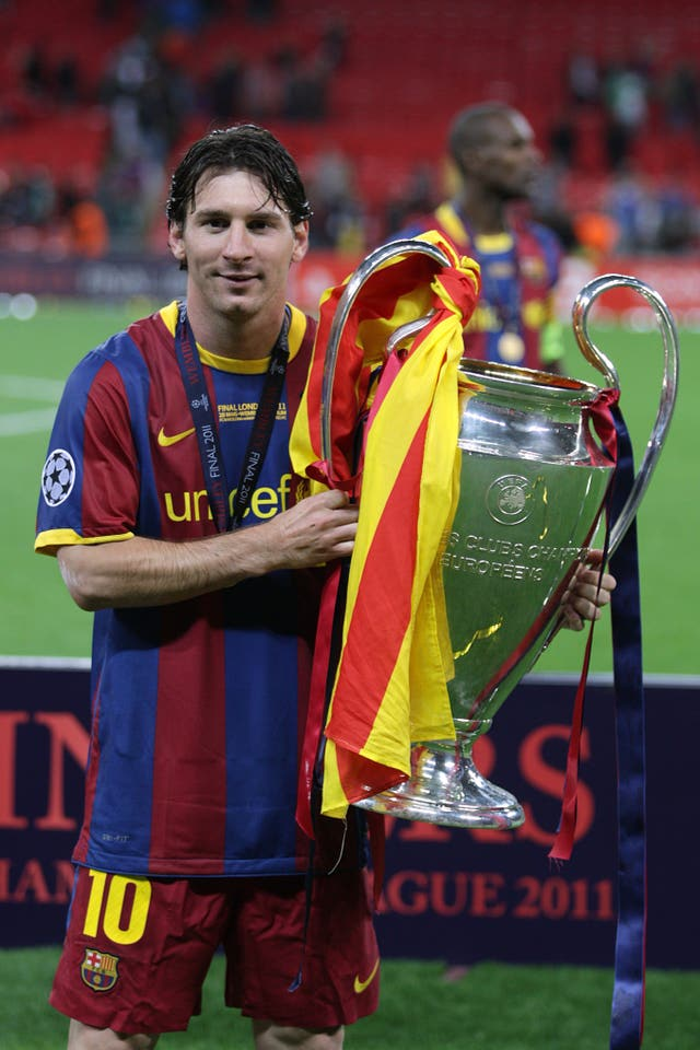 Lionel Messi won the Champions League with Barcelona in 2009 and 2011