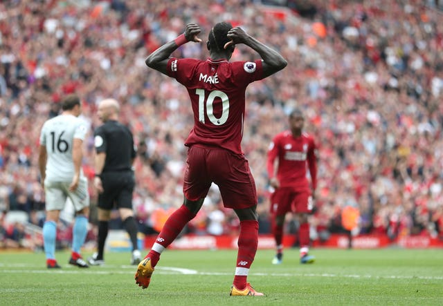 Liverpool's Sadio Mane starred in the win over West Ham