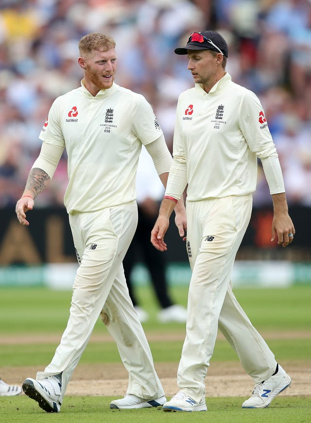 Regular captain Joe Root (right) found the perfect words to boost Stokes' confidence.