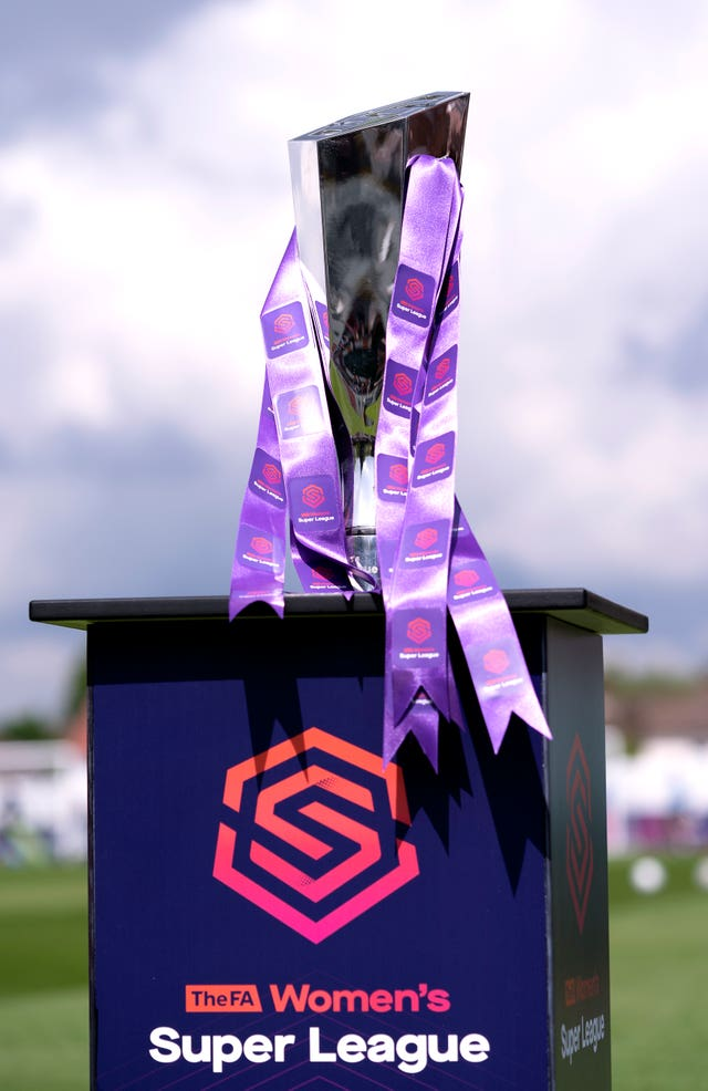 The FA Women's Super League trophy