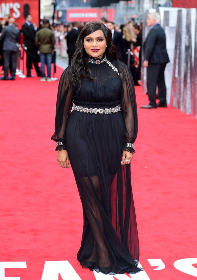 Mindy Kaling at the Ocean's 8 premiere