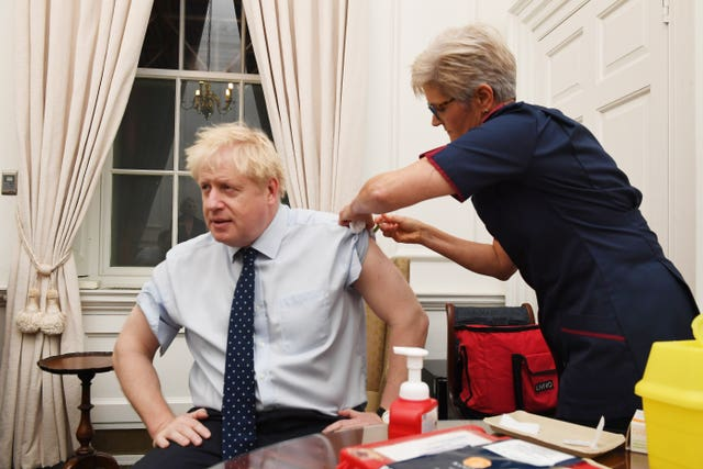 First things first - Boris Johnson received a flu jab at Downing Street before heading to Parliament
