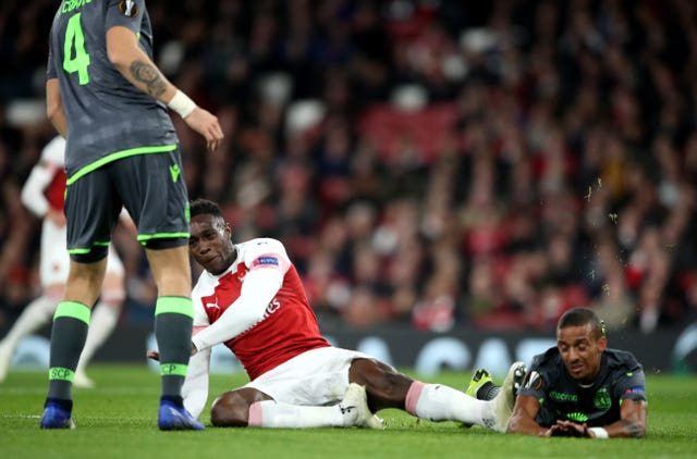 Danny Welbeck was stretchered off in the first half at the Emirates