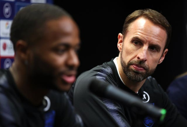 Gareth Southgate, right, will not consider Raheem Sterling on Thursday