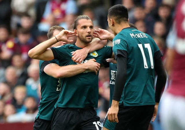 Former West Brom striker Jay Rodriguez scored in Burnley's 2-2 draw at Aston Villa