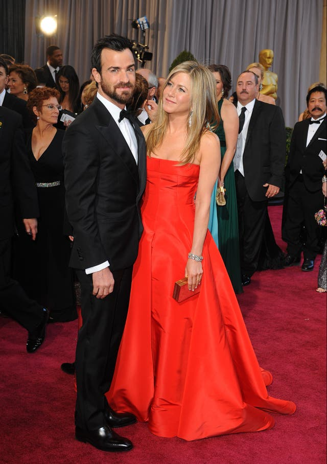 Justin Theroux and Jennifer Aniston  at the Oscars