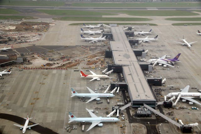 A view of work at Heathrow