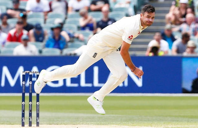 England's James Anderson bowls during day four of the Ashes Test match at the Adelaide Oval, Adelaide.