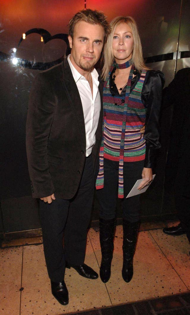 Gary Barlow and his wife Dawn