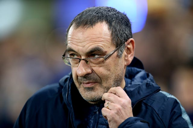 Maurizio Sarri's Chelsea currently lie sixth (Steven Paston/PA).