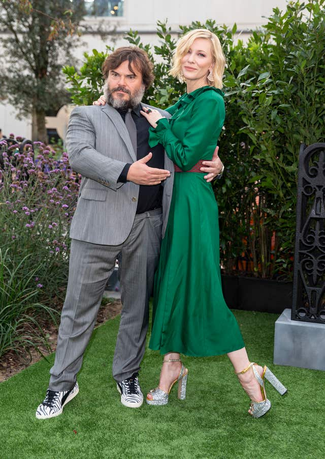 Jack Black and Cate Blanchett on the red carpet