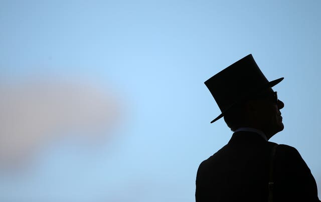 A man in a top hat