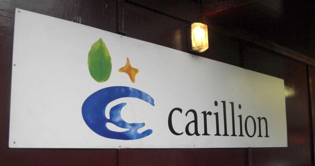 A Carillion sign (PA)
