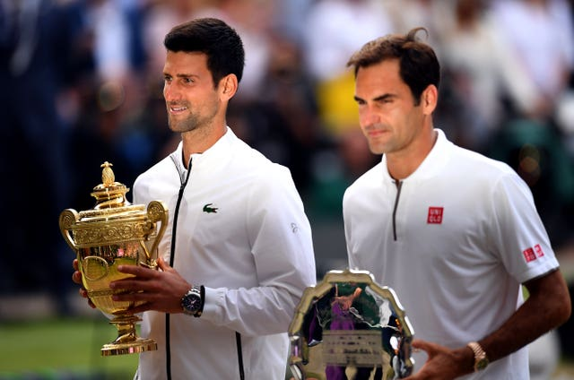 Novak Djokovic, left, edged a classic Wimbledon final in July
