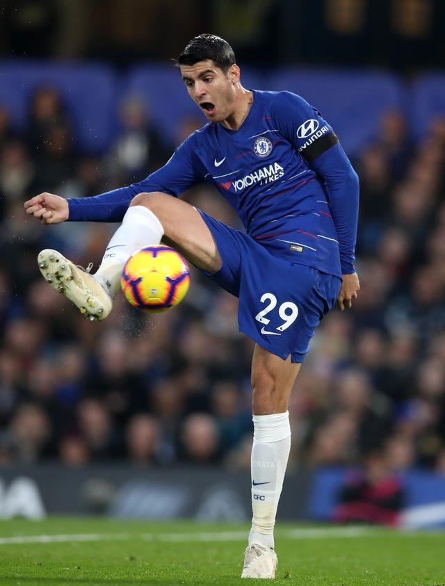 Striker Alvaro Morata is expected to return to Chelsea's starting line-up