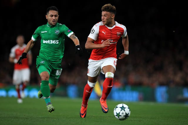 Wanderson (left) played towards England's Oxlade-Chamberlain when Ludogorets faced Arsenal in 2016.