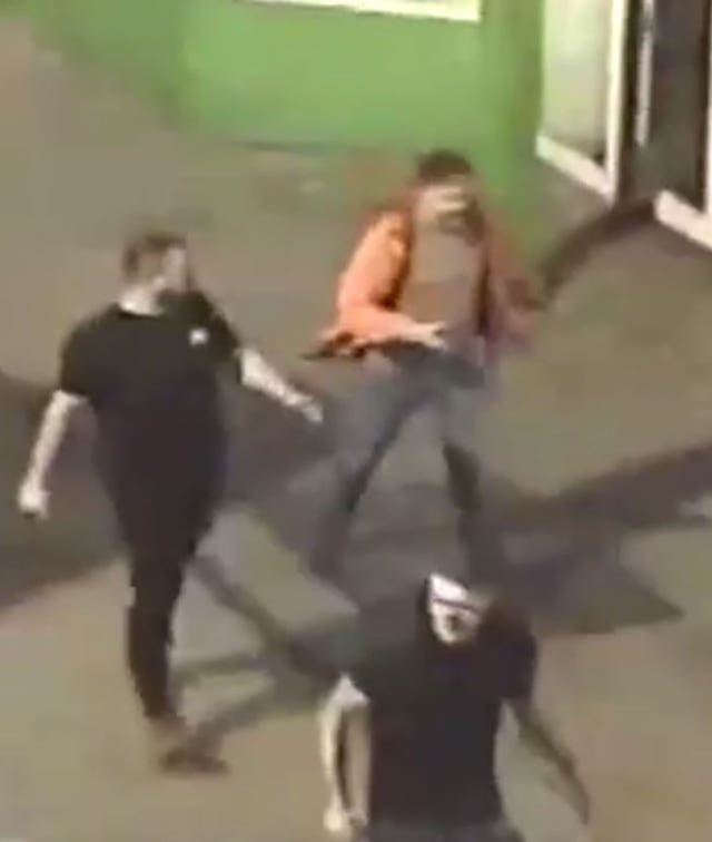 Homeless men attack