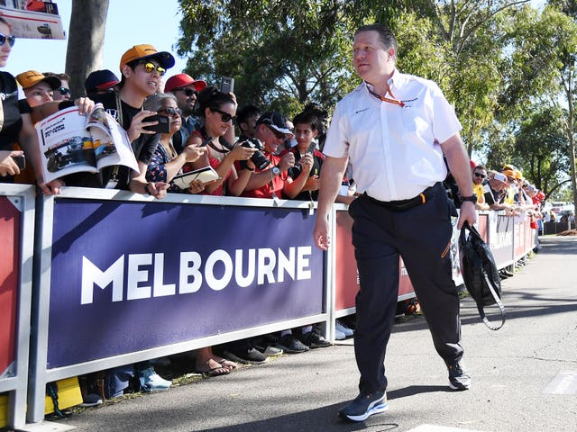 McLaren CEO Zak Brown arriving at the track in Melbourne