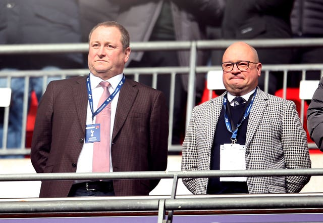 Lee Charnley (right) with Newcastle owner Mike Ashley