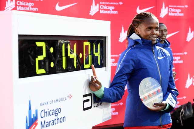 Brigid Kosgei shattered Paula Radcliffe's women's marathon world record as the Kenyan won the Chicago Marathon