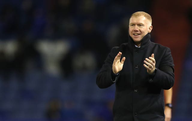 Paul Scholes won his first match as Oldham manager 4-1 against Yeovil