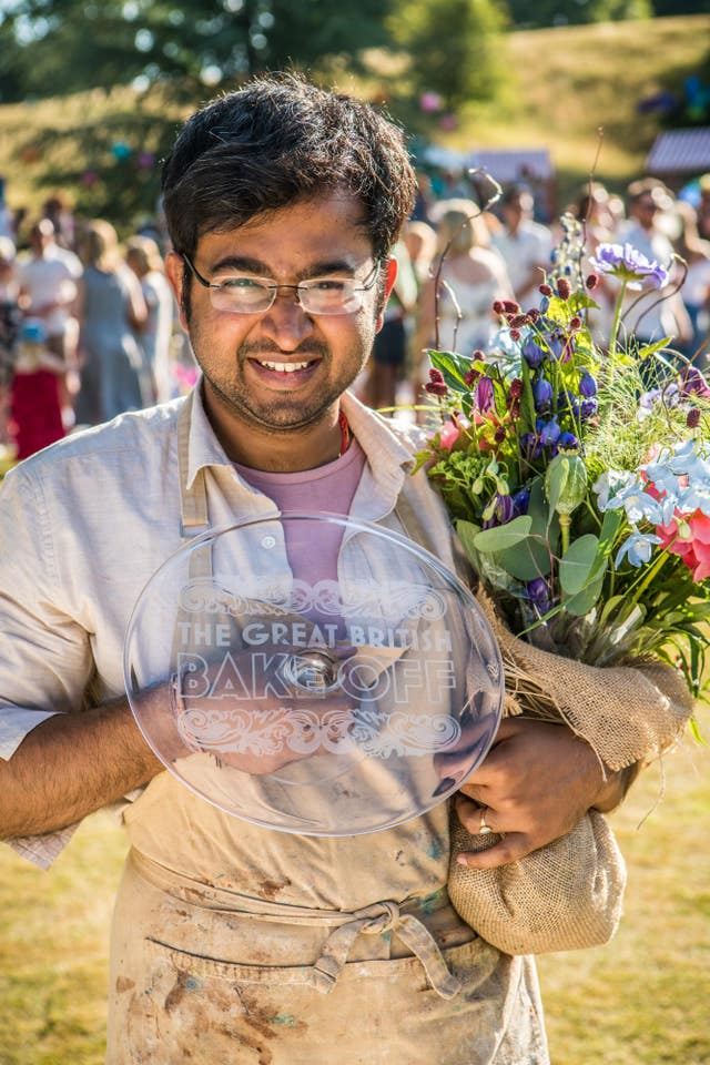 Rahul, the winner of The Great British Bake Off 2018