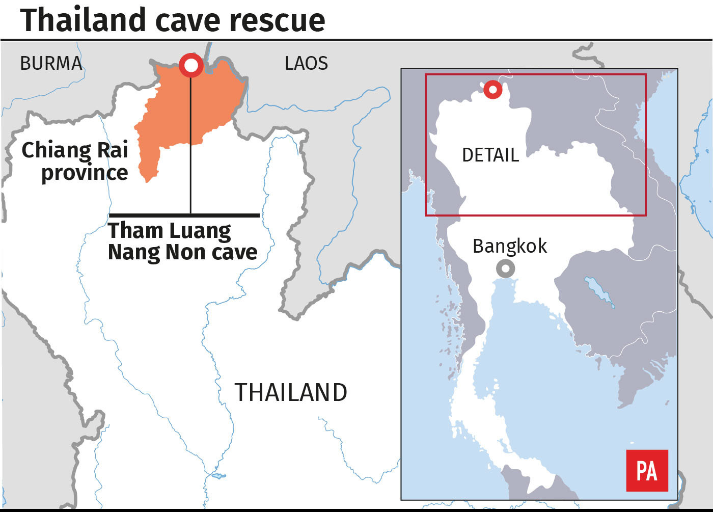photo Rescuers are still pumping water out of the cave in anticipation of at least five days of monsoon rain