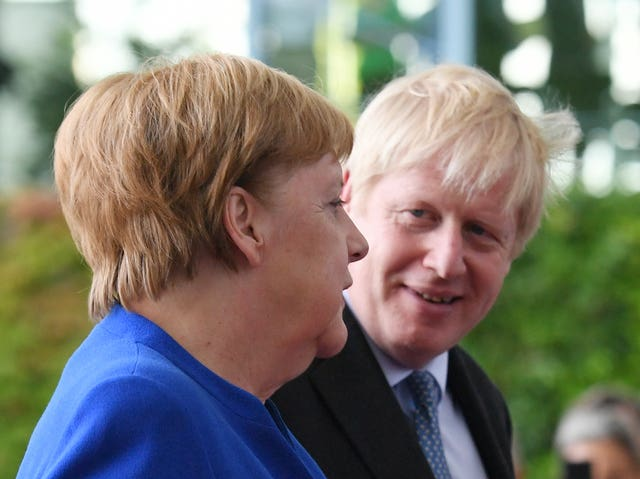 German Chancellor Angela Merkel and Prime Minister Boris Johnson in Berlin