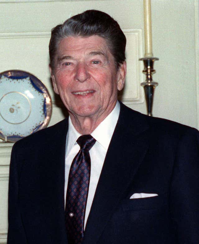 Ronald Reagan during visit to London