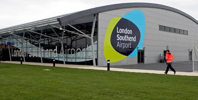 Ryanair base at Southend Airport