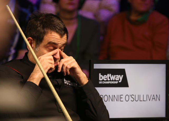 Ronnie O'Sullivan could not believe his eyes when he was confronted by a streaker