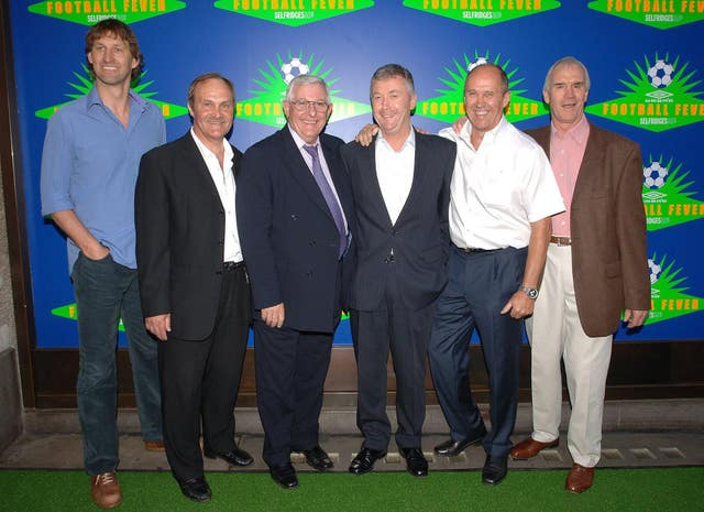 Cherry, third right, was a former England captain