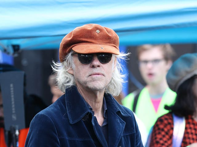 Sir Bob Geldof, backstage during an anti-Brexit rally in Parliament Square