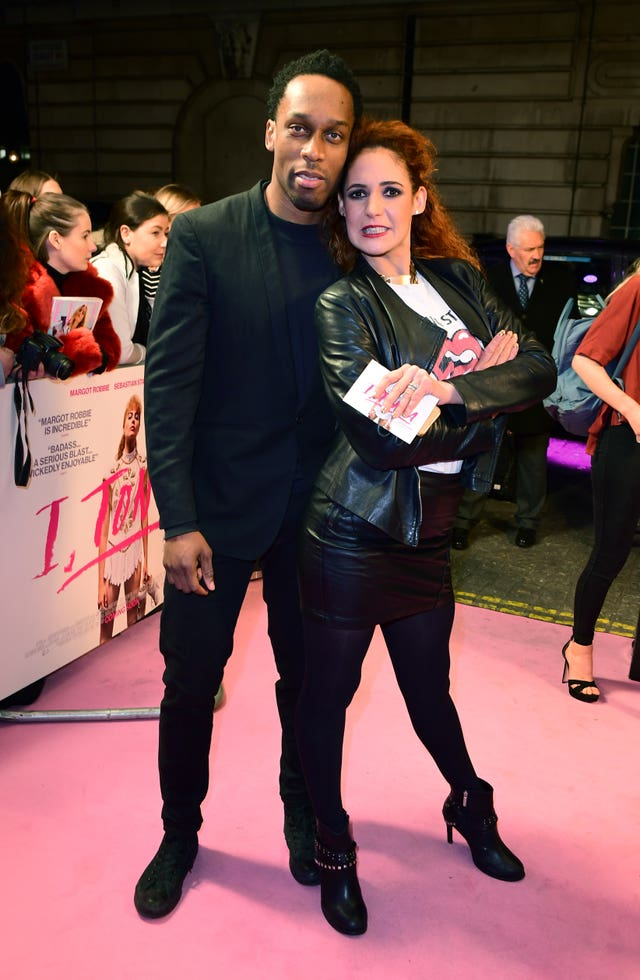 Lamar Obika and Melody Le Moal pose on the red carpet (Ian West/PA)