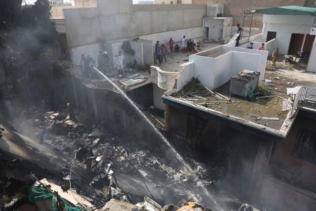 CORRECTION Pakistan Plane Crash