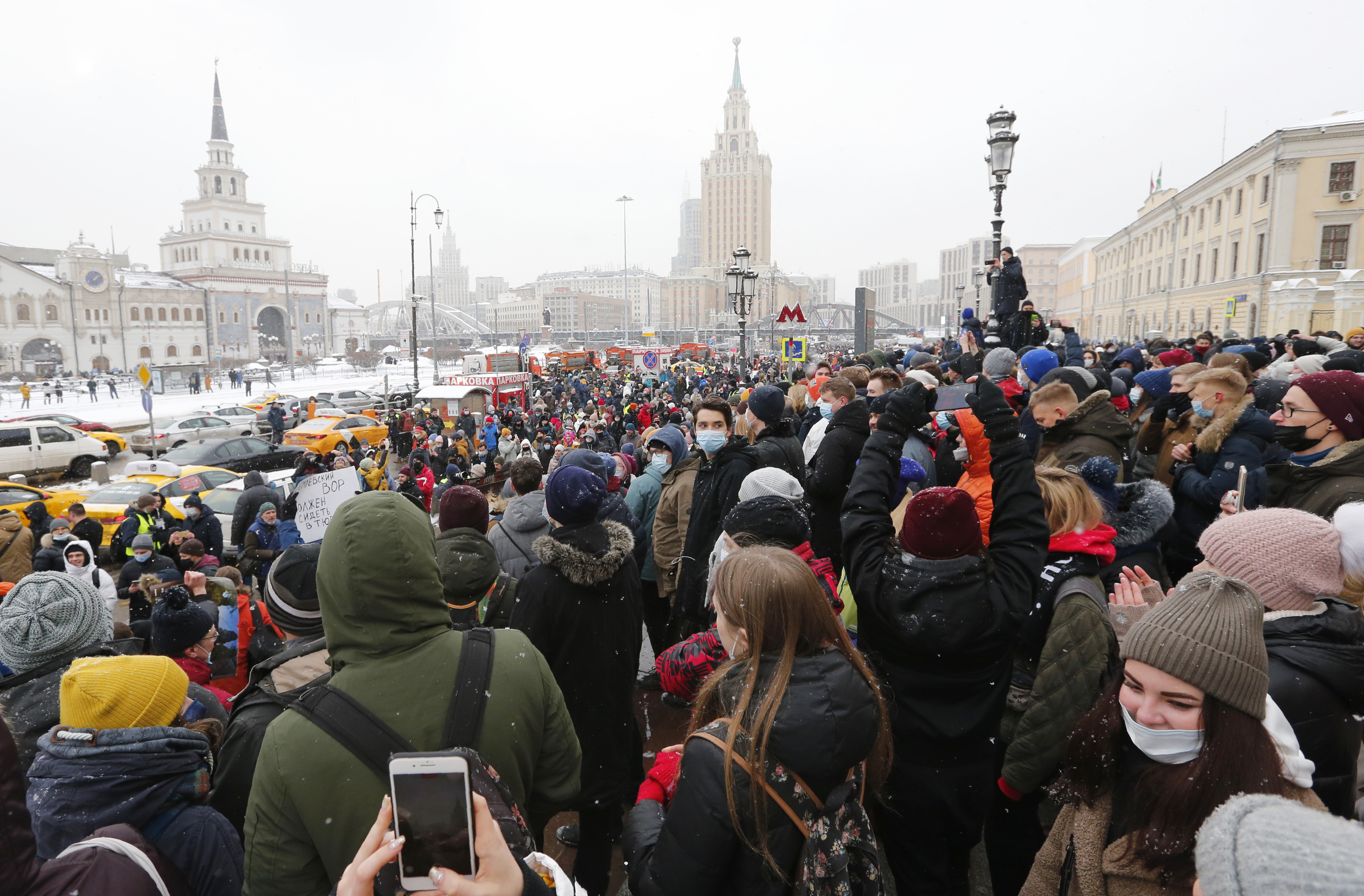 Over 5,300 People Detained in Russia Protests