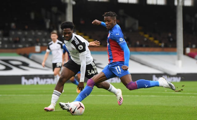 Wilfried Zaha was on target as Crystal Palace won at Craven Cottage