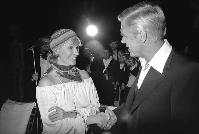 Andersson meeting George Peppard